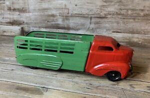Vintage Large WYANDOTTE SHARK NOSE Pressed Steel Stake Bed Art Deco Truck NICE!