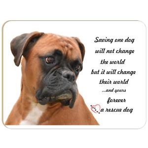 Boxer Novelty Sign fun dog humour Boxer rescue dog