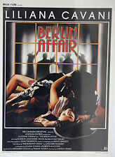 Vintage The Berlin Affair Belgian Mini Film Poster - French Belga Films 1985