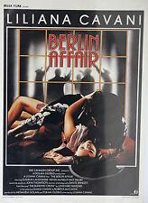 *Vintage The Berlin Affair Belgian Mini Film Poster - French Belga Films 1985