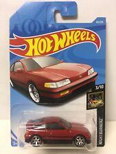 Hot Wheels Custom W/Real Riders Red '88 Honda CRX CR-X