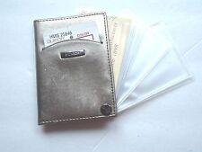 Buxton 10 Window Fan Card Case, Gold
