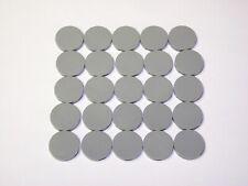 Lego Light Gray Round 2x2 Flat Tiles Smooth Finishing Floor Stones New 25Pcs