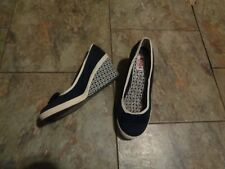0823acd7782 keds bliss blue wedge heels shoes size 6 1 2