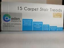 "Eden Products 15 Carpet Stair Treads 30""x8"", Beige, NEW"