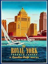 Royal York Hotel Toronto Vintage Canada Canadian Travel Advertisement Poster 2