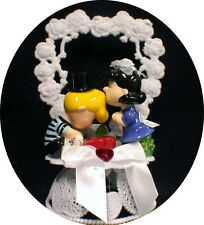 LUCY & SCHROEDER Wedding Cake topper Snoopy Peanut Charlie Gang piano funny