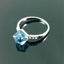 Nuevo Anillo De Cristal Con Cristal Swarovski Elements Compromiso Regalo En Caja