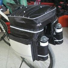 Travel Cycling Bike Bicycle Rear Rack Seat Pannier Bag Waterproof + Rain Cover