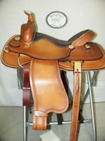 """16"""" G.W. CRATE RANCH ROPING SADDLE NEW FREE SHIP 17 15 MADE IN ALABAMA USA"""
