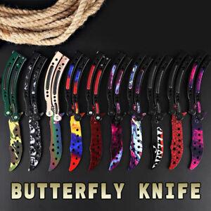 CSGO Balisong Butterfly Knife Trainer Training Practice Metal Steel Tool Sheath
