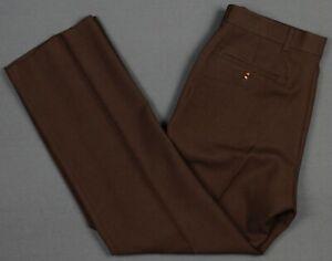 Levi's Vintage Polyester Action Slacks Pants Brown Mens 33x30
