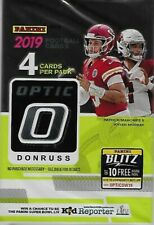 2019 Donruss Optic Football Unopened Single Hobby Pack w/ 4 Trading Cards