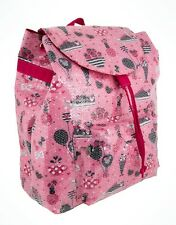 Disney Parks Minnie Mouse Pink Glitter Book Bag Back Pack Hearts Bows Ice Cream