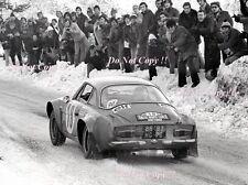 Jean-Claude Andruet Alpine-Renault A110 1800 Monte Carlo Rally 1973 Photograph 3