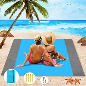 """79"""" x 83"""" Oversized Beach Blankets, Sand Proof, Beach Picnic Mat Easy to Pack"""