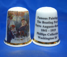 Birchcroft Thimble -- Famous Paintings - The Boating Party by Renoir -- Free Box