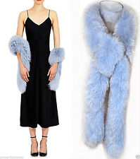John Galliano Christian Dior Pale Blue Real  Fox Fur Scarf