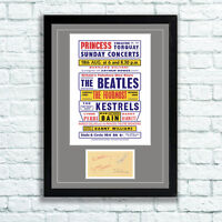 The Beatles Concert Poster and Autographs Memorabilia Poster Torquay 1963