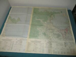 "Original 1967 Lot of 2 VIETNAM MAPS 22.5"" x 29.5"" KHU PHO NAM THO & DA NANG"