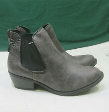 """NEW  BROWN COLOR  2""""BLOCK Heel SIDE ELASTIC  Sexy Ankle Boot Size 6.5"""