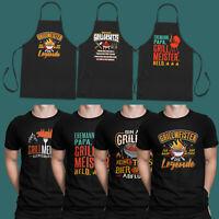 Grillen T-Shirt BBQ Grillschürze kochen witzig Sprüche lustig fun Geschenk S-5XL