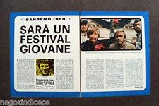 CF74 - Clipping-Ritaglio -1967- NOTIZIE MUSICA , SANREMO 1968