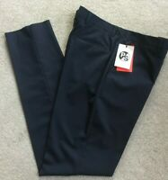 Ps Paul Smith Bleu Marine Habillé / Bureau Pantalon Taille 91.4cm Détail BNWT