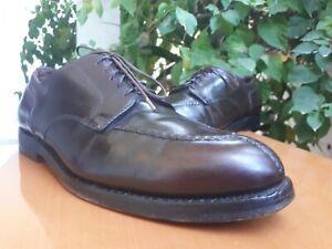 Alden 964 Norwegian Mens Brown Leather Split Toe Blucher Derby Shoes Sz 10.5 BD