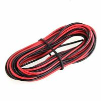 2x 3M 24 Gauge AWG Silicone Rubber Wire Cable Red Black Flexible DT