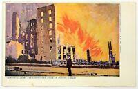 San Francisco CA Flames Following Earthquake Market Street 1906 W. R. Hearst