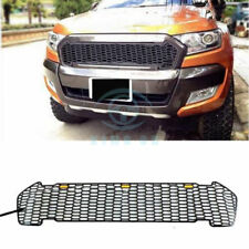 Outside Black LED Front Grille Adorn For Ford Ranger T6 Pickup Raptor 2015-2017