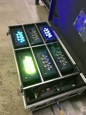 Wireless LED Aurora washers.