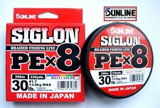 Sunline SIGLON Braided Ligne X8 300m P.e 1.7 30lb Multi Color (2660)
