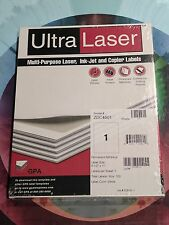 "400 Ultra Laser Full Sheet Labels 8.5 X 11"" 1 UP, Inkjet Copier Offset Press"
