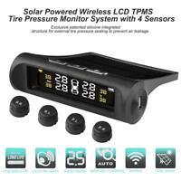 Solar Auto Reifendruckkontrollsystem Wireless TPMS mit 4 Externe Sensoren