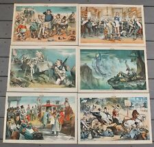1880 Puck Magazine 6 Centerfold Political Humor Lithographs By Keppler & Wales