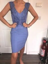 Blue Lace Dresses for Women with Appliqué