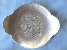 Wendell August Forge Hammered Aluminum Pansy Tray Dish