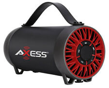 Axess Portable Bluetooth Rechargeable Speaker USB FM Radio (Red) SPBT1056RD