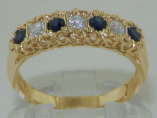 Sapphire Eternity Yellow Gold Fine Rings