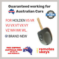 Holden Commodore 2 button Remote Car Key +chip VS VR VU VX VT VX VY VZ WH WK WL