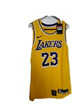Nike Men's Los Angeles La Lakers Lebron James oro Swingman Icono Camiseta grande