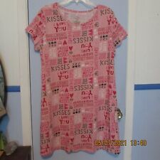 Secret Treasures L XL (14 - 18) Pink Graphic Sleepwear Shirt Gown