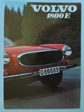 VOLVO 1800E SPORTS CAR orig 1970 UK Mkt Sales Brochure - P 1800 E