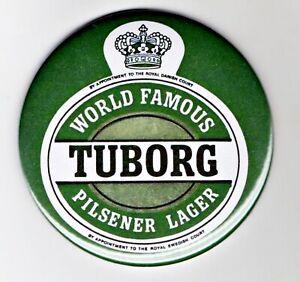 """Tuborg Fridge Magnet Beer Mat Bar Ale 3"""" 75mm Blade  Sub lager Danish Pilsener"""
