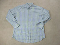 Peter Millar Button Up Shirt Adult Extra Large Blue Green Long Sleeve Casual Men