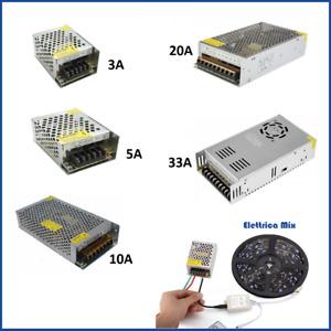 alimentatore 12v trasformatore stabilizzato switching 5a 10a 20a per strisce led