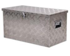 Ondis24 Aluminium Riffelblech Kiste L 80L Alubox Transportkiste Werkzeugkiste