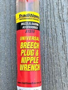 Traditions Muzzle Loading Universal Breech Plug & Nipple Wrench New OPEN BOX
